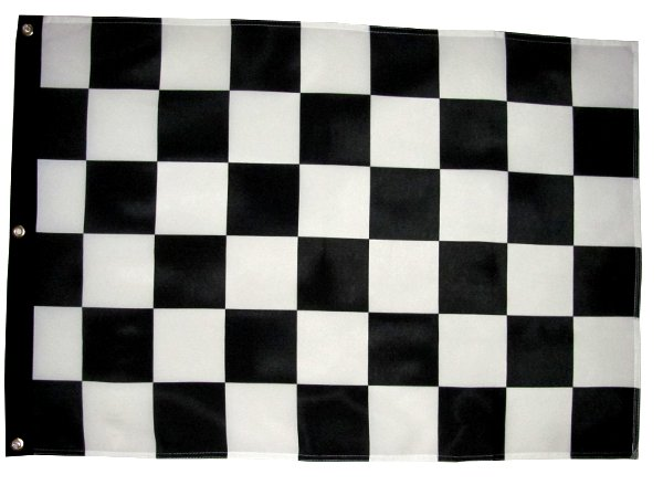 Black and white checker off road flag