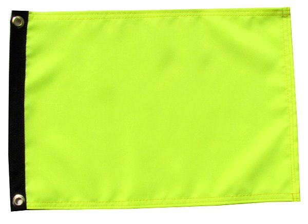 high visibility yellow flag