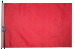 Solid Red blank ATV flag