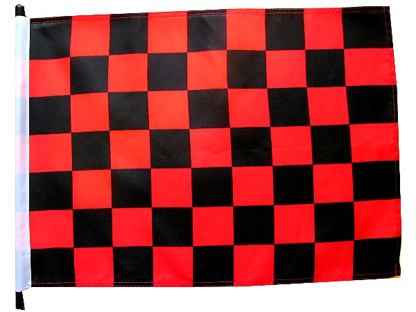 Black and red checker golf cart Flag